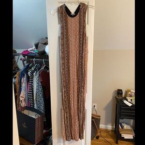 Tribal pattern long dress